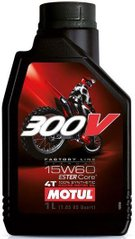 Масло Motul 300V 4T FACTORY LINE OFF ROAD SAE 15W60, 1 литр, (845711, 104137)